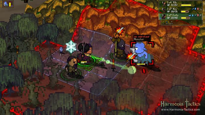 Fighting an Ogretaur in the swamp.  Screenshot taken from