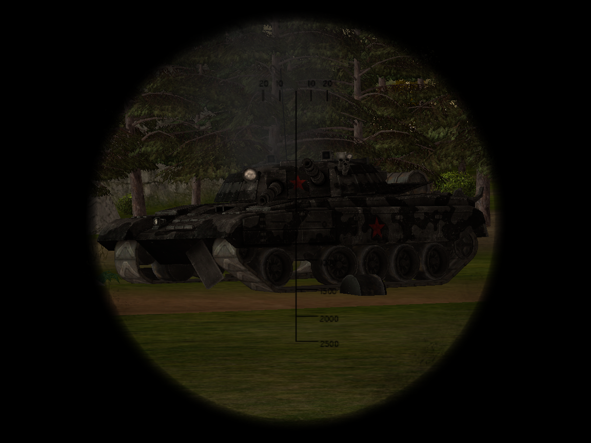 Destroyed Heavy Tank In-Game
