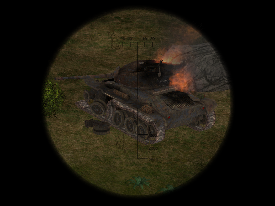 Destroyed Light Tank In-Game