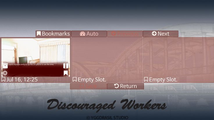 Discouraged Workers Bookmarks screen