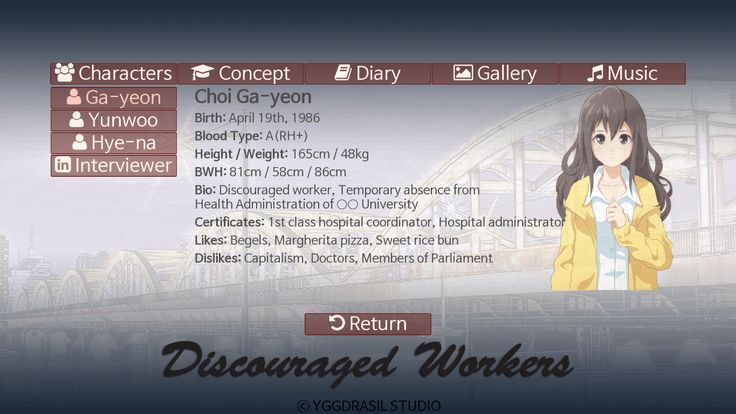 Discouraged Workers Characters Archive