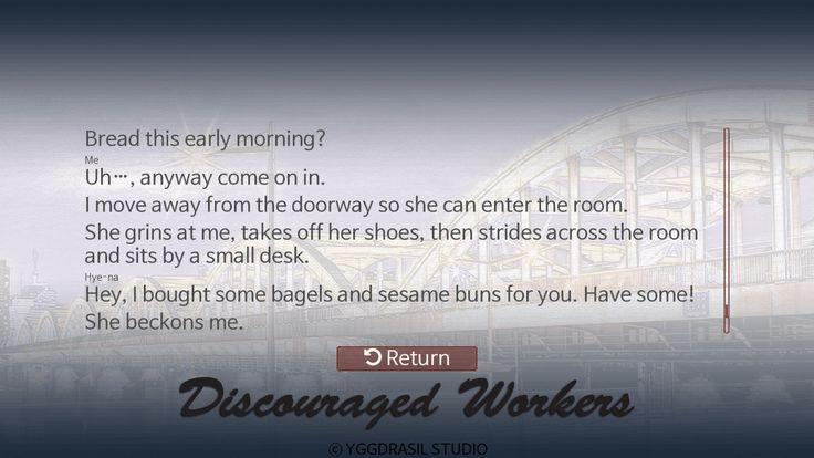 Discouraged Workers Readback screen