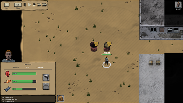 Colonist Stats