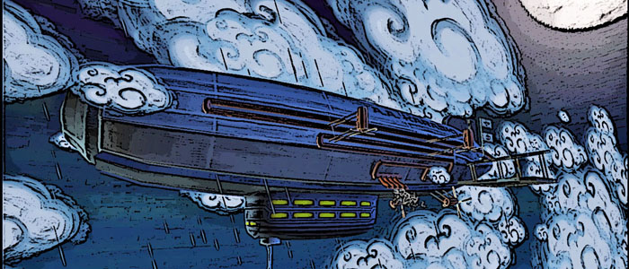 Karaski Indie Game Airship Promo Art