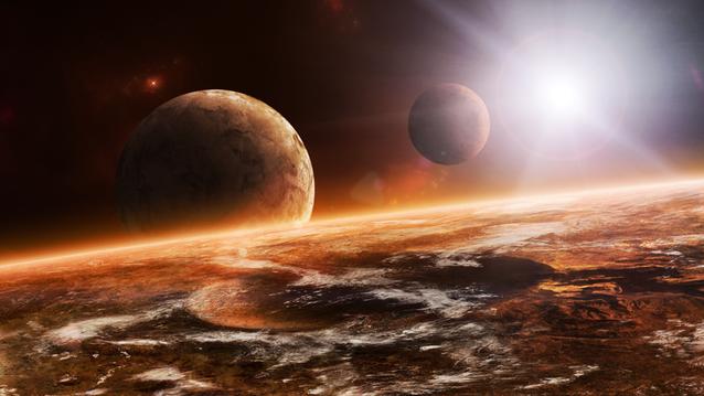 K'Tharsis observed from low orbit. A desert world full of dangers.