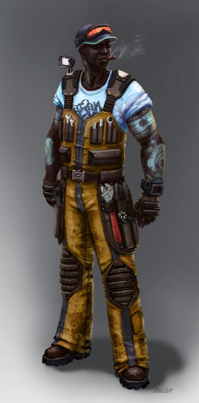 Antigravium prospector, descendant of the first colonists.