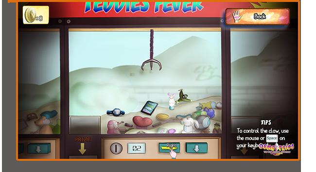 Demetrios Claw machine mini game