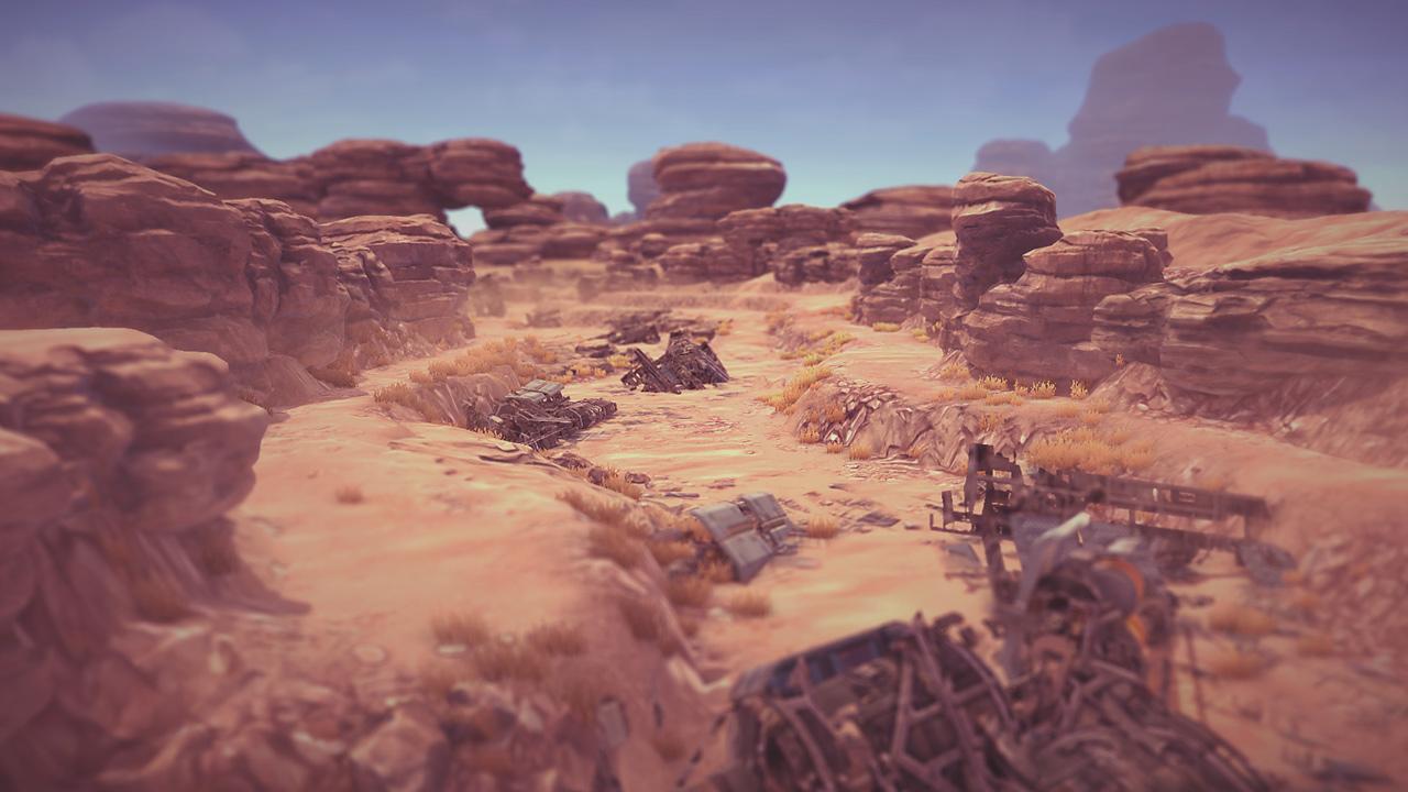 AI Invasion desert map