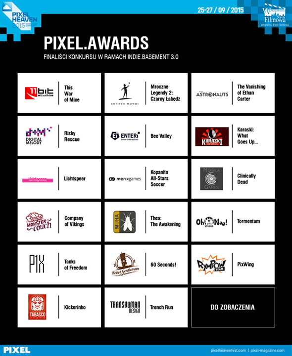 Pixel Heaven Indie Game Festival and Competition Finalists
