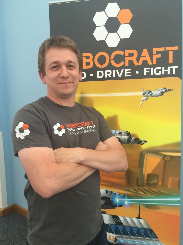 Robocraft's Game Director and CEO, Mark Simmons, July 2015