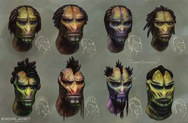 Early studies of the aborigine heads. WIP.