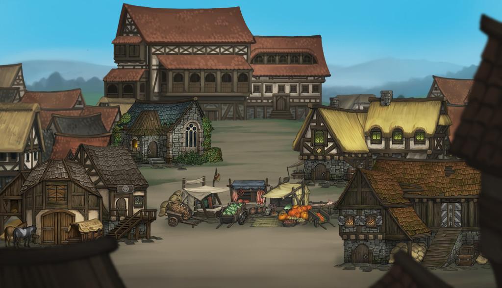 mockup village screen city