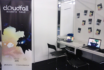 Cloudfall Reboot Infogamer 2014 booth