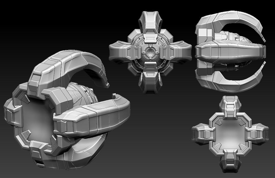High-Poly Sculpt - 3D Base Model by Wilmar Arroyave.