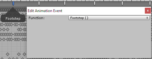The Footstep function is called on these frames