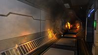 corridor in fire