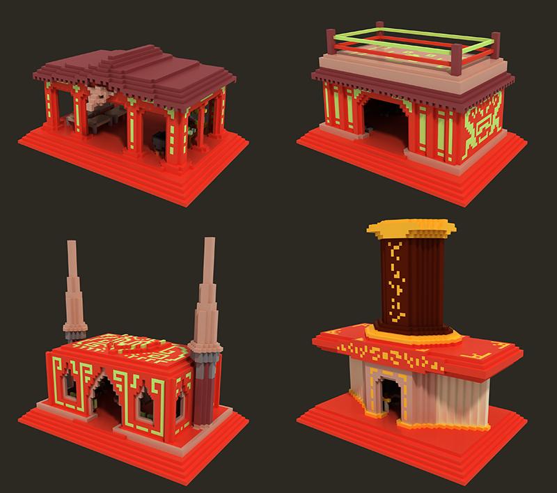 New Aztec Buildings.