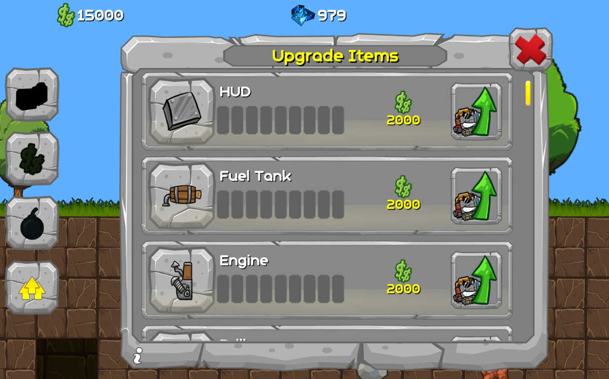 digger machine new ui looks for shops