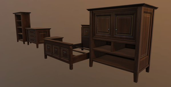 Furniture for the action RPG Fictorum