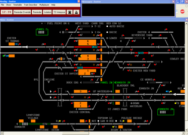 Screenshot of the Exeter version of Simsig