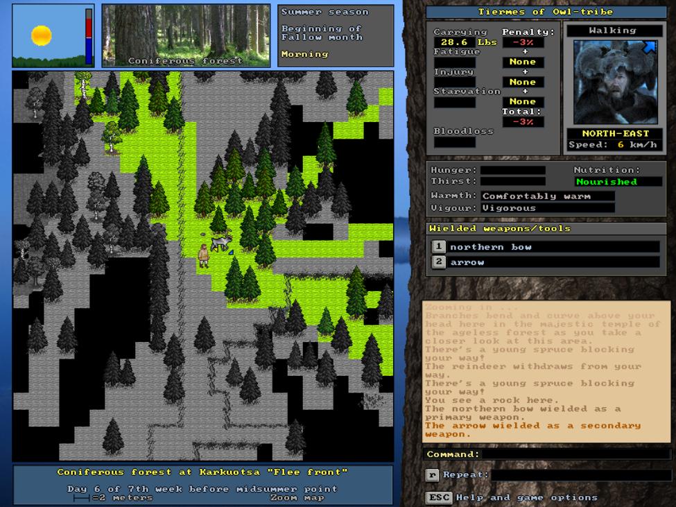 UnReal World - 3.3 preview stylized statscreen
