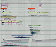 Layers of metallic and mechanic sounds