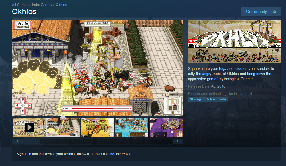 Okhlos on Steam