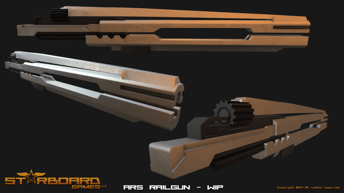 ARS Railgun, which is one of the premier heavy weapons in the game. Found in the Apartment level.