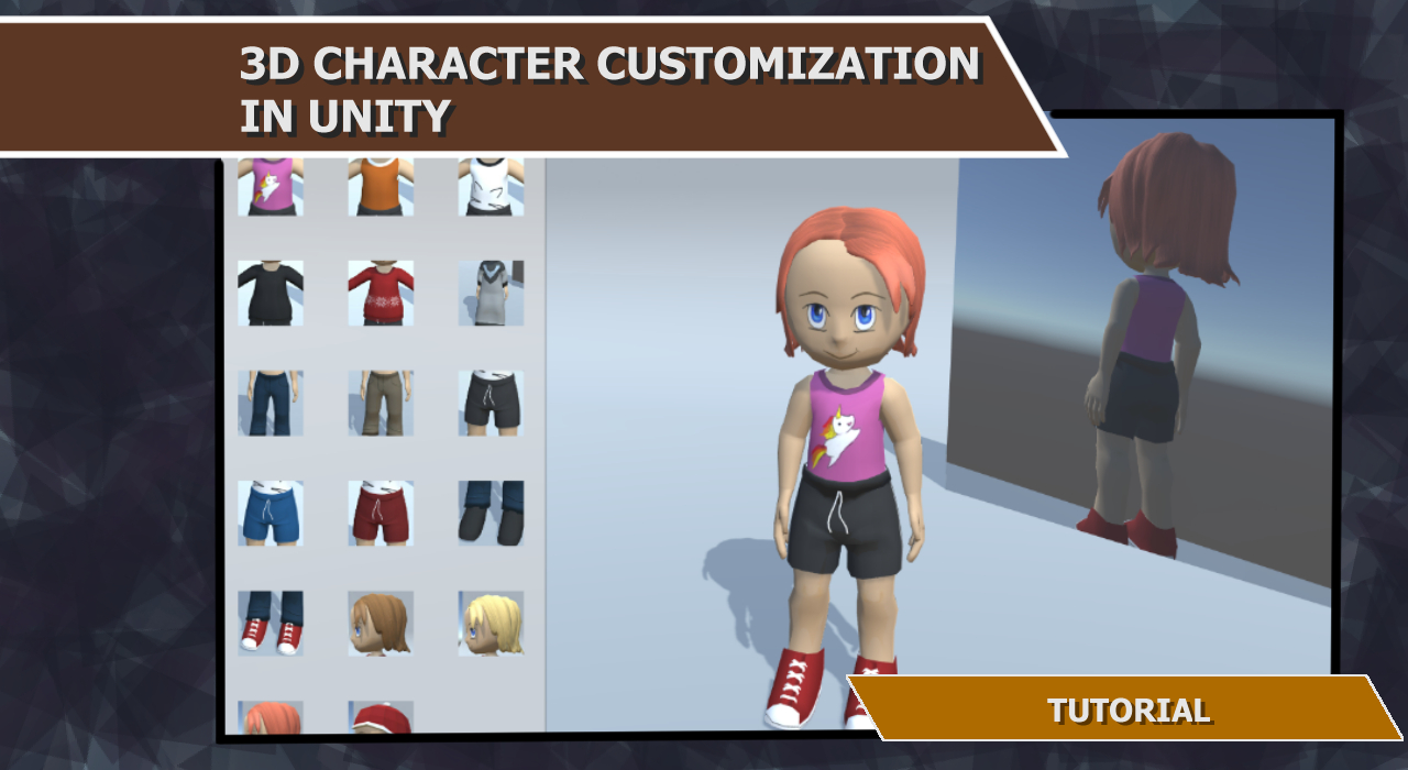 Anime Characters Unity : D character customization in unity tutorial indie db