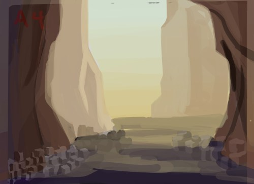    Many colonies on Bastion are located at the bottom of large cliffs/canyons   