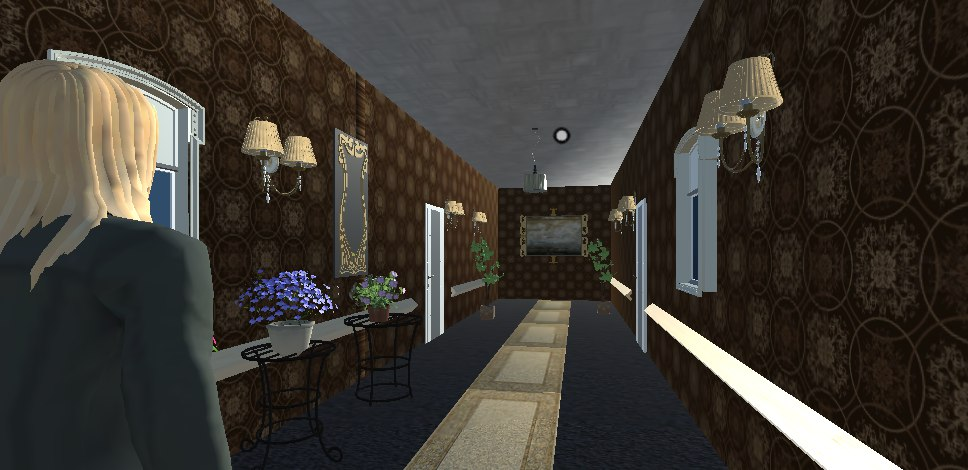 Hallway of the house you start in