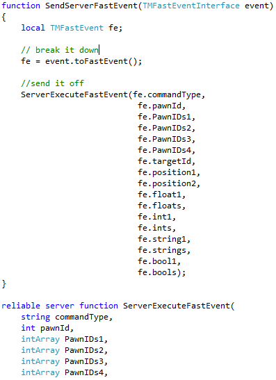 SendServerFastEvent Function Implementation