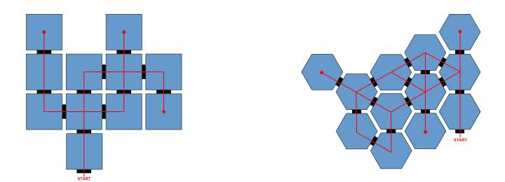 square vs. hex