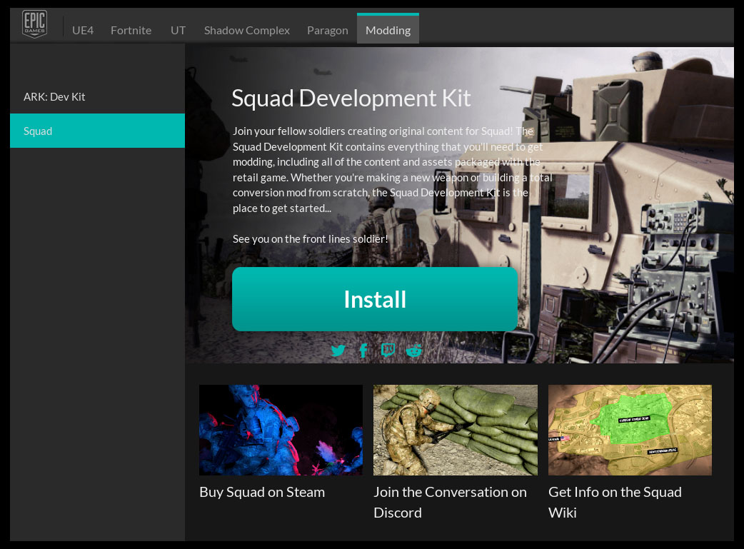 Squad Modding SDK released on Epic Launcher news - Unreal