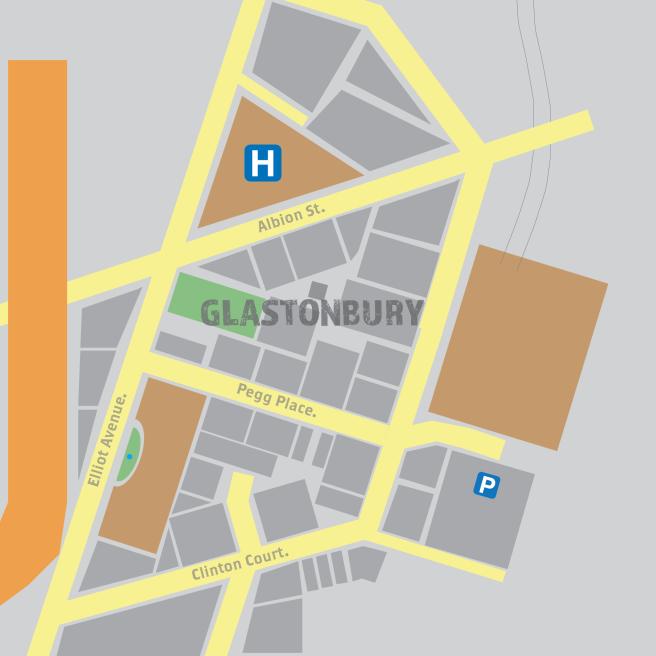 glastonburymap