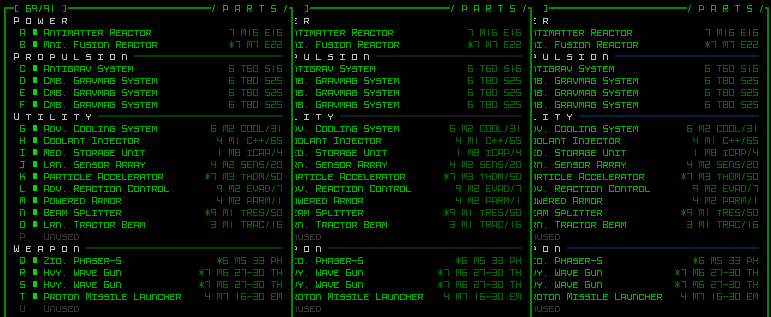 cogmind_difficulty_modes_color_HUD_parts_dividers