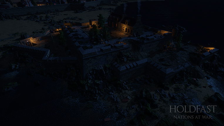 Holdfast NaW - Fort Imperial Top View (Night)