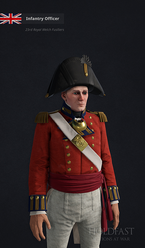 Holdfast NaW - Infantry Officer (23rd Royal Welch Fusiliers)