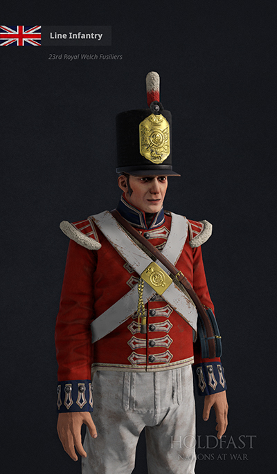 Holdfast NaW - British Line Infantry (23rd Royal Welch Fusiliers)