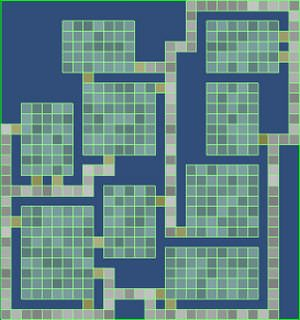 Dungeon data map generated by dungeon generator prototype