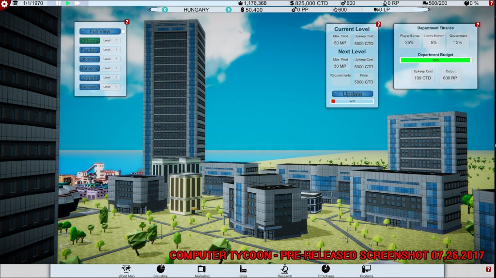 Computer Tycoon Building Site