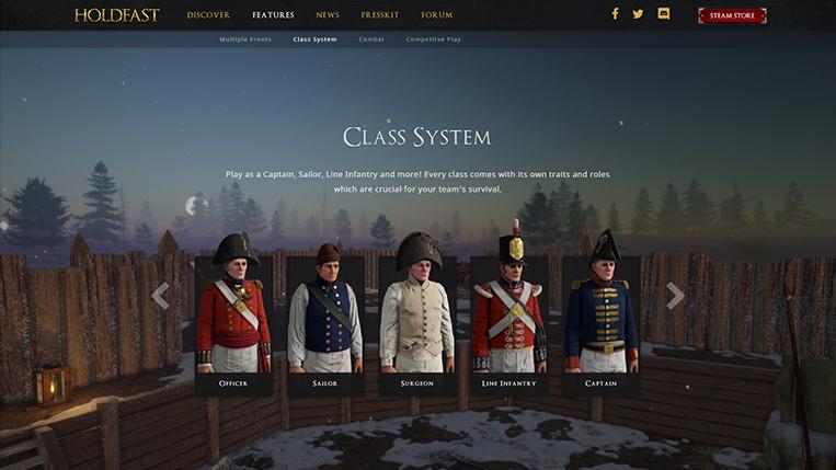 Holdfast NaW -  Website Class System
