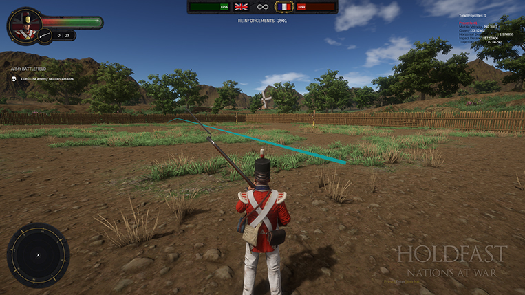 Holdfast NaW - Arching Bullet Trajectory
