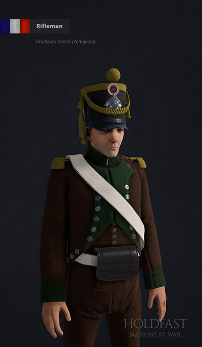 Holdfast NaW - French Rifleman (Tirailleurs Corses - Voltigeurs)