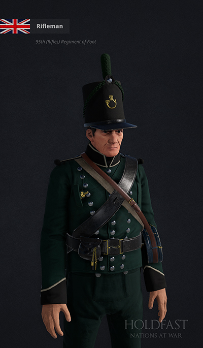 Holdfast NaW - British Rifleman (95th Rifles)