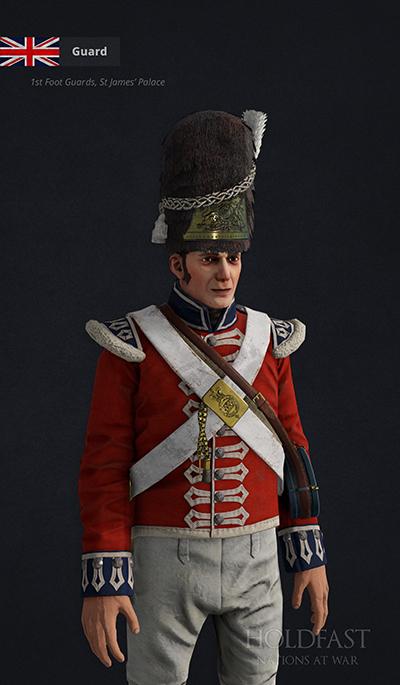 Holdfast NaW - British Guard (1st Foot Guards, St James' Palace)