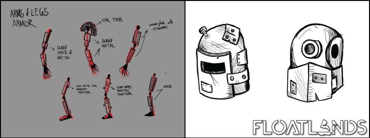 arms legs head armour floatlands