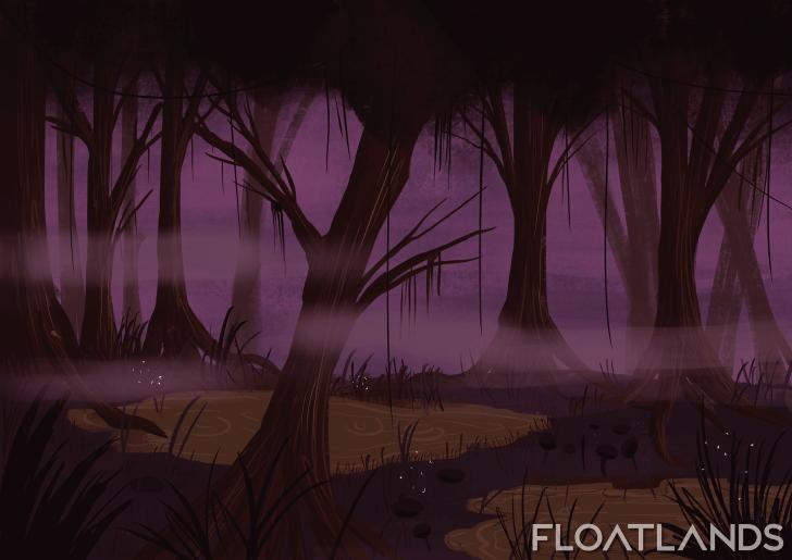 swamp painting lowpoly floatlands