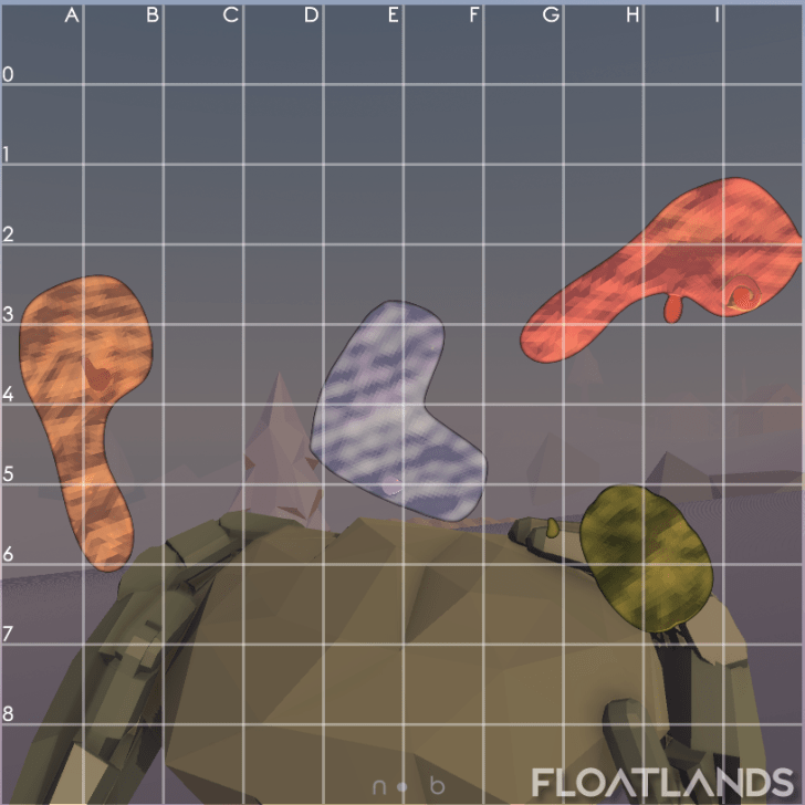 world map finished lowpoly floatlands