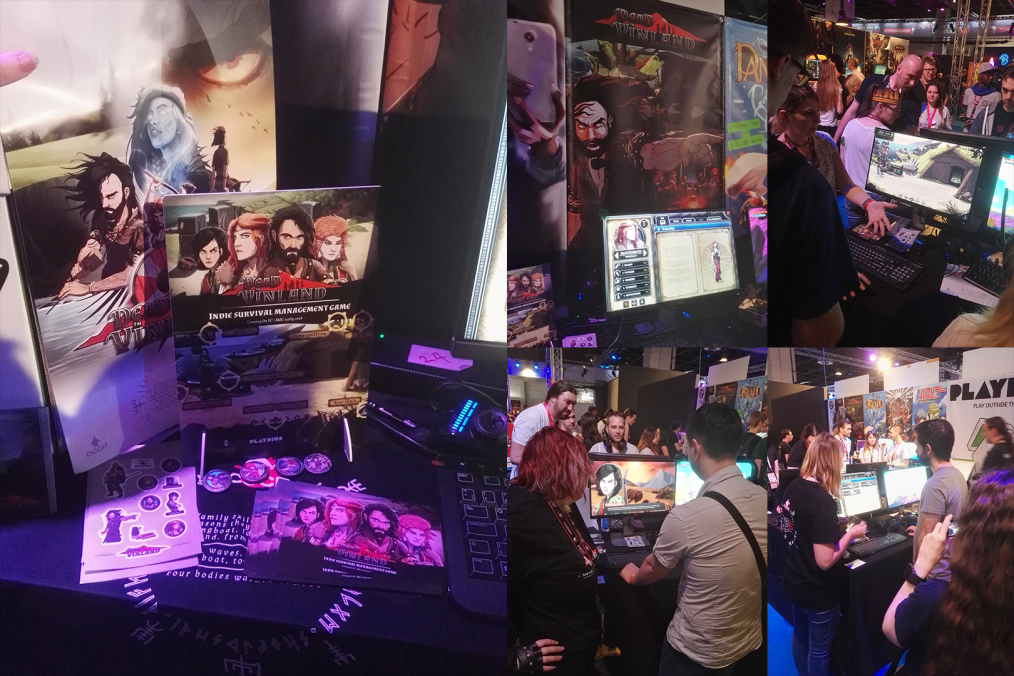 Our stand in the Indie Arena Booth! People loved surviving in Dead in Vinland